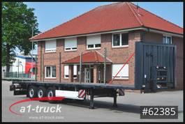flatbed semi trailer Krone SD 27, Stahlmatte, Steckrungen 2011