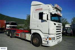 container truck Scania R 6x2 container chassis 2007