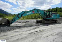 crawler excavator Kobelco SK350LC-10 w/ GPS and bucket 2017