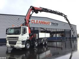 crane truck DAF CF FAD 85 8x4 Fassi 66 ton/meter laadkraan + JIB 2010