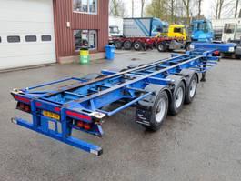 container chassis semi trailer Pacton 3139 CS - 3 Assen ROR - Trommelremmen - STEEL SUSPENSION (O546) 1992