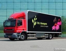 refrigerated truck DAF CF 75 15 KARREN BAK  KACHEL  HARDHOUTEN VLOER GEISOLEERD 2012