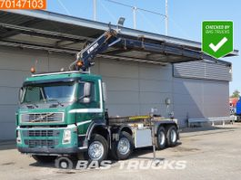 container truck Volvo 8X2 Crane Hiab 220 C-5 Remote Manual Hubreduction Liftachse 2004