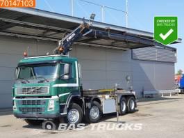 container truck Volvo FM 8X2 Crane Hiab 220 C-5 Remote Manual Hubreduction Liftachse 2004