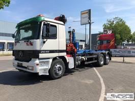 container truck Mercedes-Benz Steel/Air - Hook + Crane Palfinger PK10500 2010