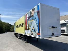 closed box semi trailer Schmitz Cargobull SKO24, Koffer, SAF Achse, Liftachse, TOP 2002