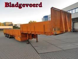 lowloader semi trailer Pacton 3 As Oplegger Dieplader Open, Belgisch kenteken 1989