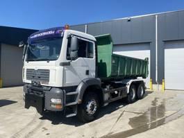 container truck MAN TGA 26.360 6X4 HAAKSYSTEEM EURO4