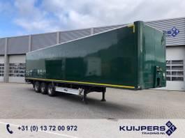 closed box semi trailer Fliegl SDS 390 / 3 axle Disk / Box / Loadlift / Room Damage Dach Schade 2008