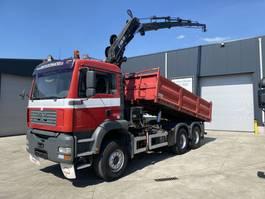tipper truck > 7.5 t MAN TGA 33.390 KIPPER+KRAAN HIAB 195-5