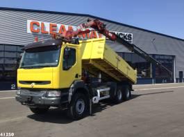 tipper truck > 7.5 t Renault Kerax 6x4 HMF 18 ton/meter laadkraan 2004