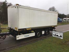 container chassis semi trailer Krone ZZW 18 EL 7450 mm veksellads kærre - Zepro lift 2014