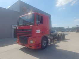 chassis cab truck DAF 95 XF 430 (EURO 2 / 10 TIRES / 6X4 / MANUAL PUMP) 2001