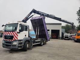 tipper truck > 7.5 t MAN 26-360 TGS 6X2 + HIAB 144B-2 HiDuo 2010