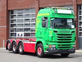 container truck Scania R730 8x4/4 - Highline - Hooklift - Full air - Retader - custom interior 2012