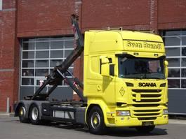 container truck Scania R450 6x2*4 Topline - Hiab Multilift XR21S Hooklift - Ratarder - navi - Euro6 2016