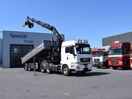 crane truck MAN TGS 26 6x4 (Euro5) + GSH Kipper trailer + Hiab 244 EP-3 Duo Combination 2010
