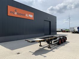container chassis semi trailer Burg 20FT ADR-chassis, empty weight: 3.690kg, SAF INTRADISC, 2x liftaxle 2012