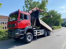 tipper truck > 7.5 t MAN TGA 26 6X6 BB Kipper Mit Kran HMF 16 TON 2005