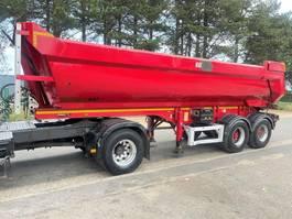 tipper semi trailer MOL ELLIPS - 2-AS - 27m³  HARDOX KIPPER - SAF - HYDR ACHTERKLEP - STAAL CHASSIS / STALEN KUIP - SCHIJFREMMEN - BANDEN 75% - 445/65R22.5 - BELGISCHE PAPIEREN - ZEER NETTE STAAT 2011
