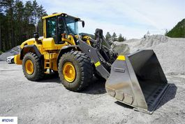 wheel loader Volvo 120G with weight and printer 2013