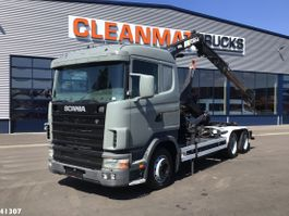 container truck Scania R124 Hiab 8 ton/meter laadkraan 1998