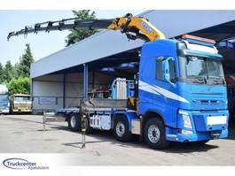 platform truck Volvo Effer 525, Euro 6, 91000 km!, 8x2, Retarder, Truckcenter Apeldoorn 2016