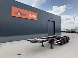 Container-Fahrgestell Auflieger Burg 20FT ADR-Chassis, Leergewicht: 3.690kg, SAF INTRADISC, 2x Liftachse 2012