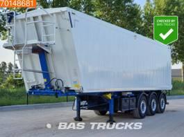 tipper semi trailer Kempf 53M3 Aluminium 3 axles 53m3 Alukipper electric/hydraulic tipper Liftachse 2016