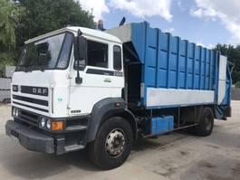 garbage truck DAF 2300 TURBO **FULL STEEL-FRENCH TRUCK** 1987
