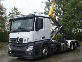 container truck Mercedes-Benz Actros 6x2 EURO6 Abrollkipper Palfinger 22T 2019