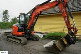 mini digger crawler Kubota U 55-4 mini excavator with a lot of equipment 2014