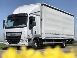 closed box truck DAF LF45.250.EURO6. Aut. Schuifzeil,Bakwagen met Laadklep.720x248x250. 2014