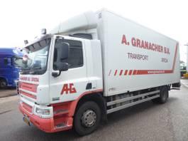 closed box truck DAF CF65 220, euro 5, klIMA, LBW Hollandia 2008