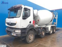 concrete mixer truck Renault Kerax Dxi 8x4, Manual, Steel suspension, 9 M3 2007