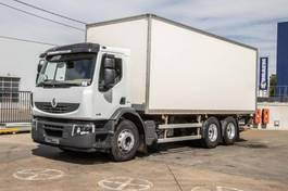closed box truck Renault Premium DXI-6X2-10 PNEUS/TIRES+DHOLLANDIA 2009