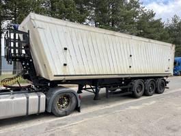 tipper semi trailer Schmitz Cargobull 50m3 VOLUME KIPPER - STEEL CHASSIS / ALU TIPPER - SAF - DISC BRAKES - LIFT-AXLE - 2008