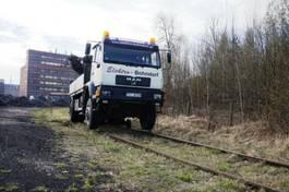 crane truck MAN 18.280 4x4 HIAB 166 Road RAIL Two way Schiene 2002
