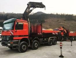 crane truck Mercedes-Benz 4140 8X6 HIAB 700 E9 Arbeitskorb cran 2002