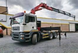 crane truck MAN TGA 26 6x4 HMF 4220 K4+2 Kran Cran 2005