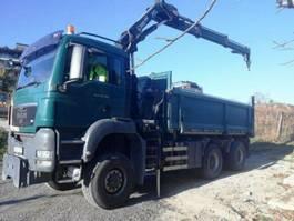 tipper truck > 7.5 t MAN TGS 26 6x6 HIAB 144 BORDMATIK Kran Kipper 2008