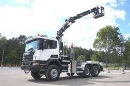 tipper truck > 7.5 t Scania P 6x6 Crane Kran HMF 2020 Hooklift 2013