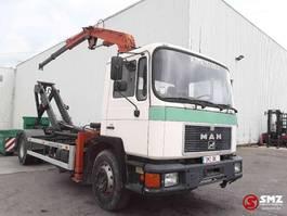 container truck MAN 17.232 atlas ak 3500 1990