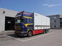closed box truck Scania R 560 2008