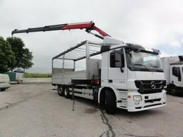 crane truck Mercedes-Benz Actros 2546L Euro 5 Retarder Kran HMF 2010
