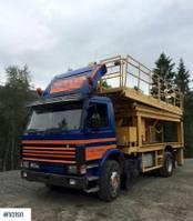 other aerial platform Scania P93 w / scissor lift power tool 1990