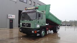 tipper truck > 7.5 t MAN 19.422 (MANUAL PUMP / EURO 2 / STEEL SUSPENSION / 6 CYLINDER / ZF-GEARBOX) 1991