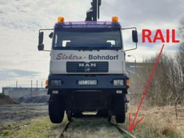 mounted boom lift truck MAN .280 4x4 HIAB 166 Road RAIL Two way Schiene 2002