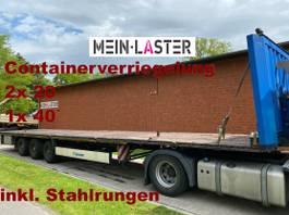 flatbed semi trailer Krone Containerverriegelung NL 30.420 kg hse 2010