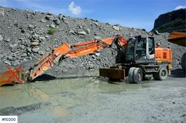 wheeled excavator Hitachi ZX190W-3 Wheeled excavator with central grease, qu 2008